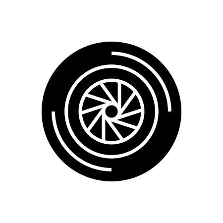 Icône d'obturateur de caméra, illustration, vecteur signe sur fond isolé Banque d'images - 88157419