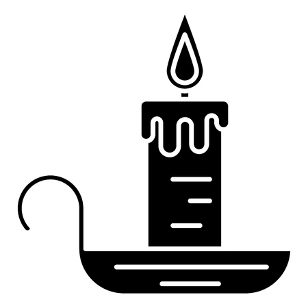 candle icon, illustration, vector sign on isolated background Illustration