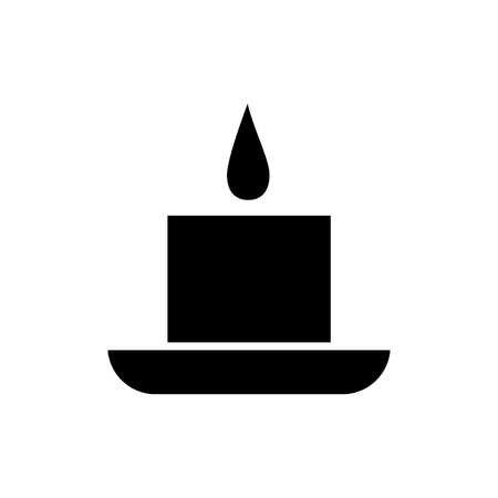 candle spa icon, illustration, vector sign on isolated background 向量圖像