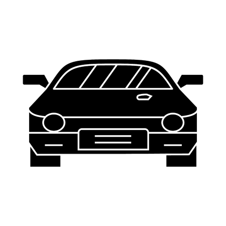 car - race - racing icon, illustration, vector sign on isolated background