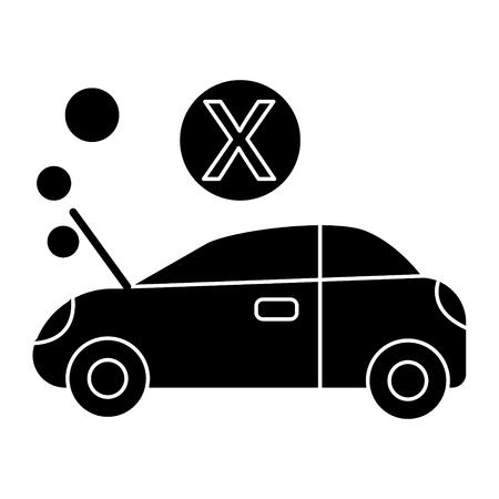 auto brak pictogram, illustratie, vector teken op geïsoleerde achtergrond
