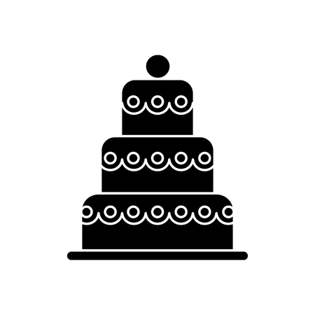 cake big - 3 levels icon, illustration, vector sign on isolated background Иллюстрация