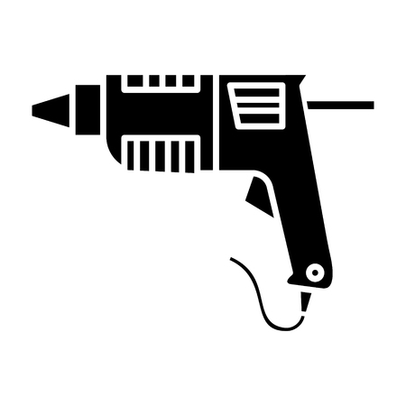 caulk gun - glue gun icon, illustration, vector sign on isolated background 向量圖像