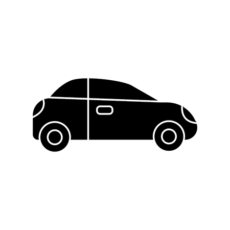 car sedan vehicle icon, illustration, vector sign on isolated background Çizim