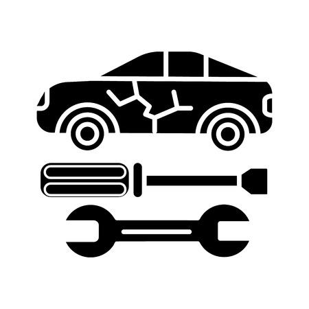 Icône de service de voiture, illustration, signe de vecteur sur fond isolé Banque d'images - 88157453