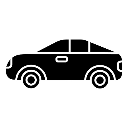 car vehicle automobile icon, illustration, vector sign on isolated background Illustration
