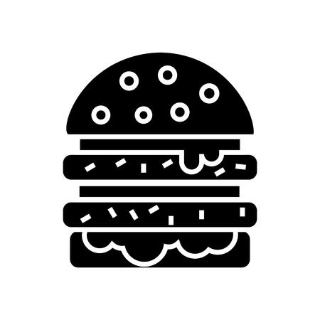 cheeseburger icon, illustration, vector sign on isolated background Çizim