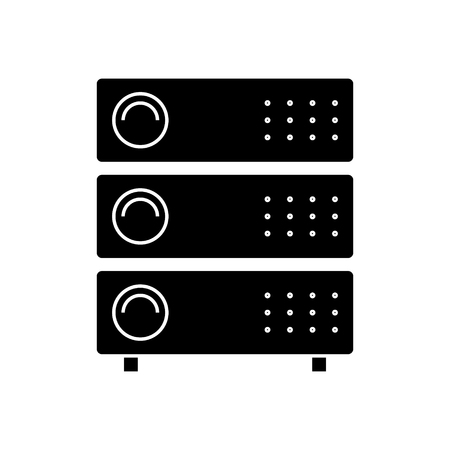 computer servers icon, illustration, vector sign on isolated background
