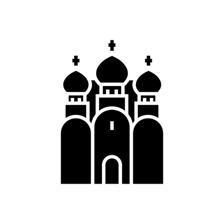 church christianity - Russian Orthodox Church icon, illustration, vector sign on isolated background Illustration