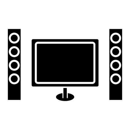 bioscoop home theater pictogram, illustratie, vector teken op geïsoleerde achtergrond Stock Illustratie