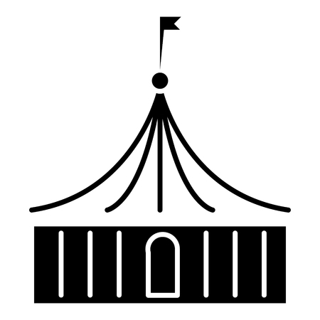 circus icon, illustration, vector sign on isolated background