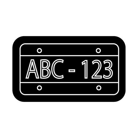 auto nummer pictogram, illustratie, vector teken op geïsoleerde achtergrond