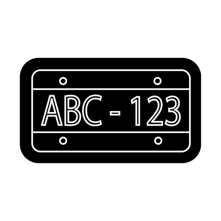 car number icon, illustration, vector sign on isolated background Stock Illustratie