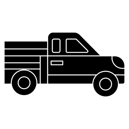 car pickup icon, illustration, vector sign on isolated background Illustration