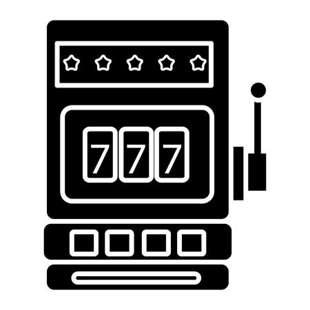 casino slot machine icon, illustration, vector sign on isolated background