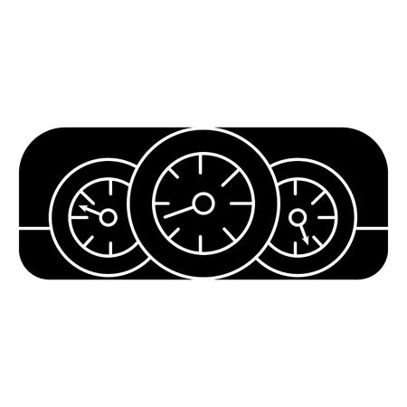 dashboard auto pictogram, illustratie, vector teken op geïsoleerde achtergrond