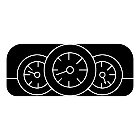 dashboard car icon, illustration, vector sign on isolated background Illustration
