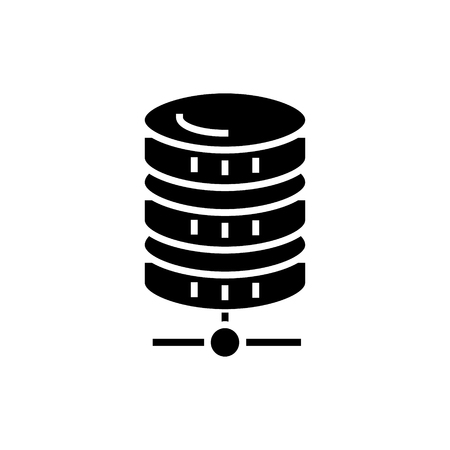 database network icon, illustration, vector sign on isolated background