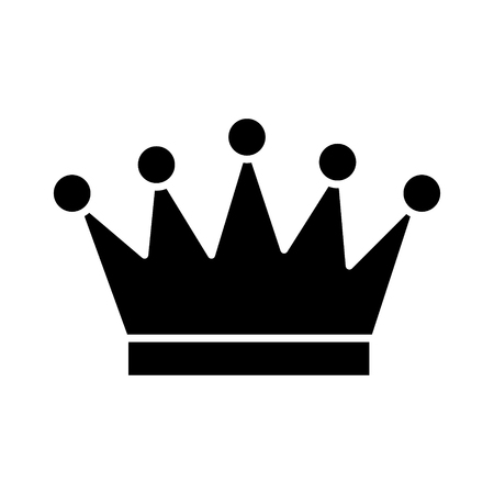 crown icon, illustration, vector sign on isolated background