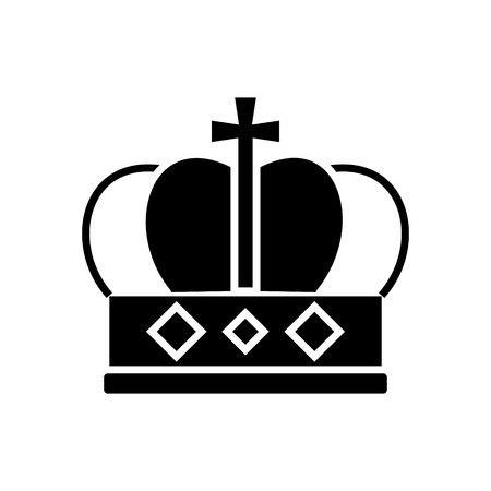 crown king icon, illustration, vector sign on isolated background