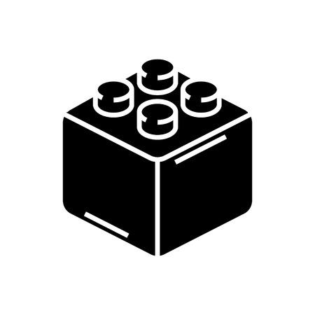 constructor bakstenen pictogram, illustratie, vector teken op geïsoleerde achtergrond