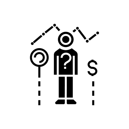 consumer research icon, illustration, vector sign on isolated background