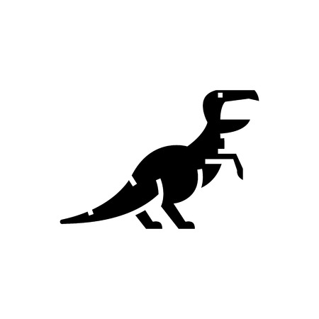 dinosaur - raptor - Tyrannosaurus  icon, illustration, vector sign on isolated background Ilustração