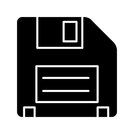 디스켓 아이콘, 그림, 벡터 격리 된 배경에 서명
