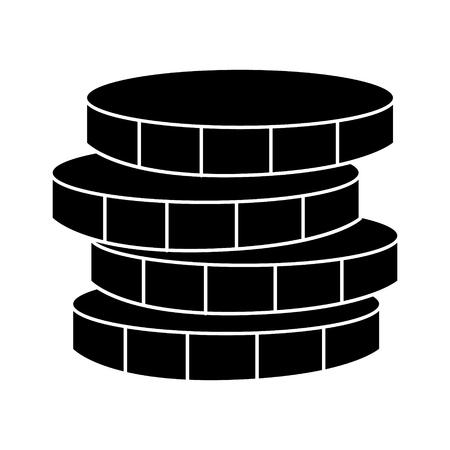 Icona dei soldi delle monete, illustrazione, segno di vettore su fondo isolato Archivio Fotografico - 88157593