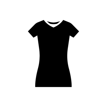 dress tunic - long skirt icon, illustration, vector sign on isolated background
