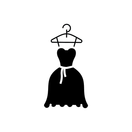 dress wedding - ball gown icon, illustration, vector sign on isolated background Illustration