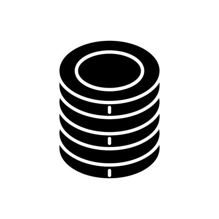 Icona di monete, illustrazione, segno di vettore su fondo isolato Archivio Fotografico - 88157621