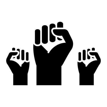 vechten voor rechten - vrijheid pictogram, illustratie, vector teken op geïsoleerde achtergrond