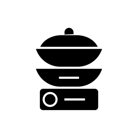 double boiler icon, illustration, vector sign on isolated background