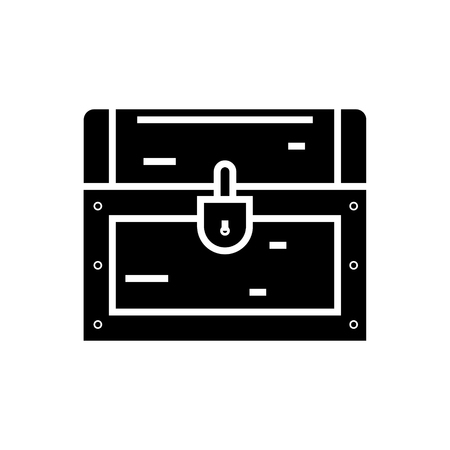 dower chest icon, illustration, vector sign on isolated background