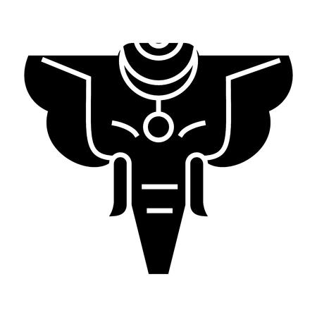 코끼리 인도 아이콘, 일러스트, 벡터 격리 된 배경에 서명 스톡 콘텐츠 - 88157686