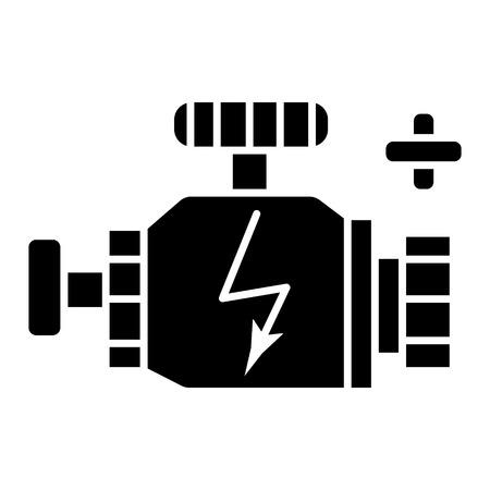 engine car icon, illustration, vector sign on isolated background Illustration