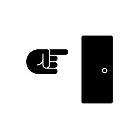 Icône de sortie, illustration, signe de vecteur sur fond isolé Banque d'images - 88157692