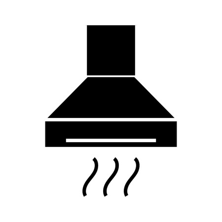 extractor - cooker hood icon, illustration, vector sign on isolated background Ilustração