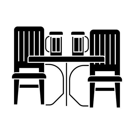 dinner room  icon, vector illustration, black sign on isolated background Illustration