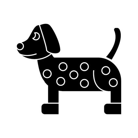 dog dalmatian  icon, vector illustration, black sign on isolated background