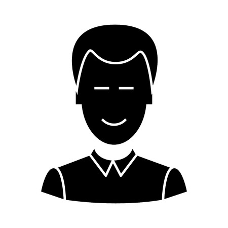 clerk  icon, vector illustration, black sign on isolated background