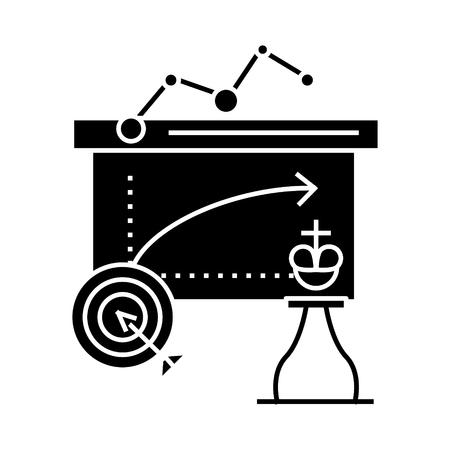 ビジネスの戦術アイコン、ベクトル図では、孤立の背景に黒い印  イラスト・ベクター素材