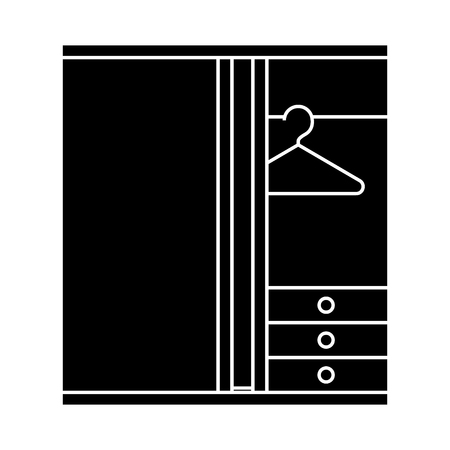 dressing room  icon, vector illustration, black sign on isolated background