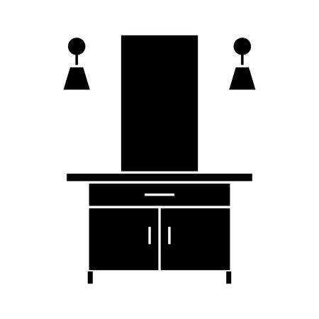 hall  icon, vector illustration, black sign on isolated background Illustration
