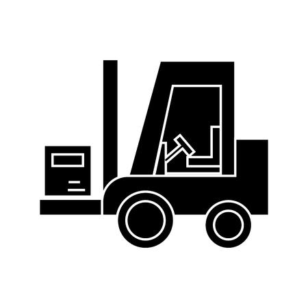 Loader pictogram, vector illustratie, zwart teken op geïsoleerde achtergrond Stockfoto - 88157836