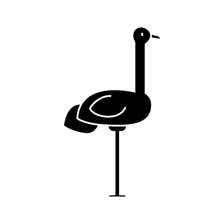Heron  icon, vector illustration, black sign on isolated background