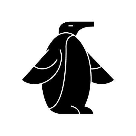 Penguin  icon, vector illustration, black sign on isolated background