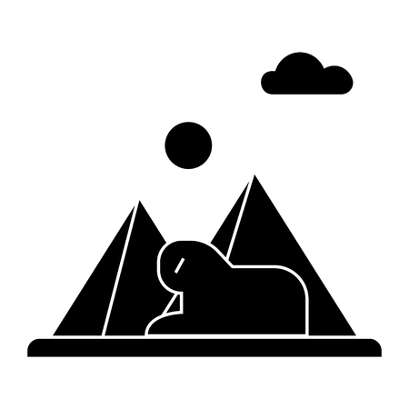 Pyramid  icon, vector illustration, black sign on isolated background 向量圖像