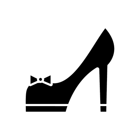 Shoes bridal  icon, vector illustration, black sign on isolated background Ilustrace